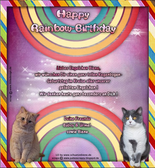 An den Beitrag angehängtes Bild: http://www.schuetzebiene.de/Diverses/August-05-08-18-RB-Biene-HeiLei-Rainbow-Birthday.jpg
