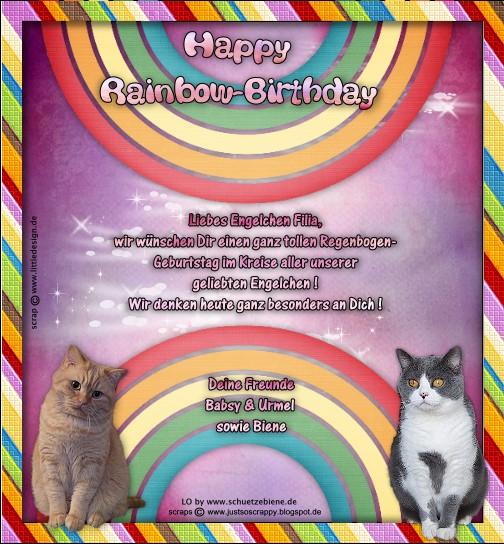 An den Beitrag angehängtes Bild: http://www.schuetzebiene.de/Diverses/febr-24-02-19-RB-Filia-Rainbow-Birthday.jpg