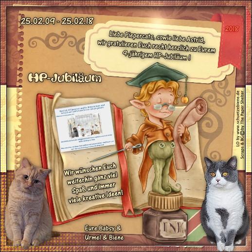 An den Beitrag angehängtes Bild: http://www.schuetzebiene.de/Diverses/febr-25-02-09-18-Piepercats-HP-Jubi.jpg